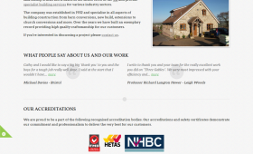 A screenshot showing the homepage of LEG Bishop and Sons Ltd.